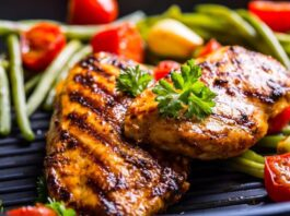 How much protein in chicken breast